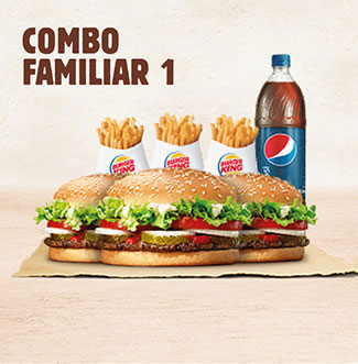 BurgerKing a Domicilio Combo Familiar 1