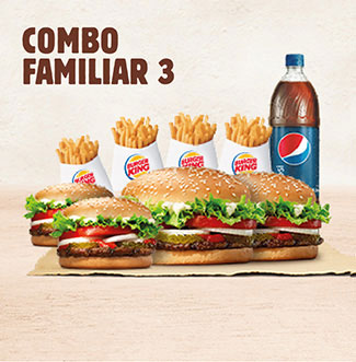 BurgerKing a Domicilio Combo Familiar 3