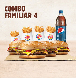 BurgerKing a Domicilio Combo Familiar 4