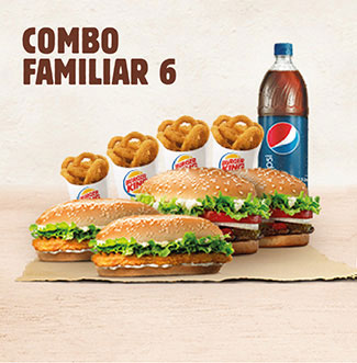 BurgerKing a Domicilio Combo Familiar 6
